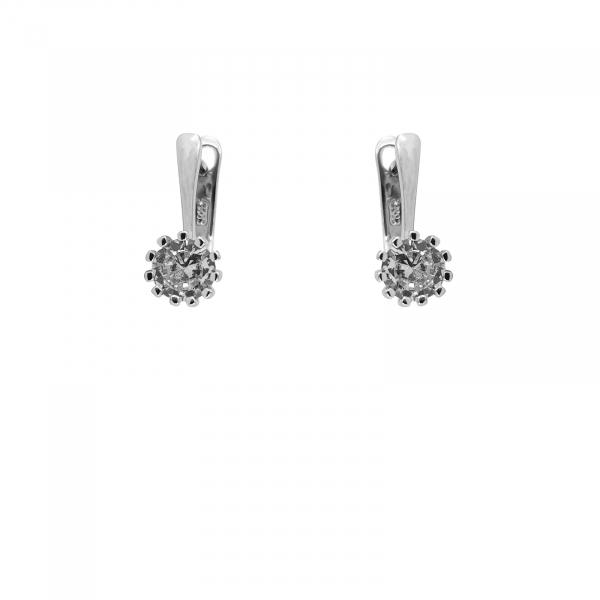 Cercei Argint 925% clasici cu zirconia alb de 7mm [1]