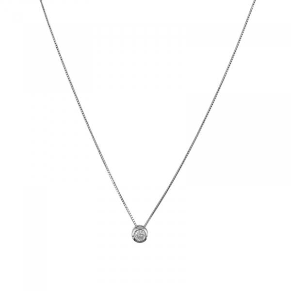 Colier Argint 925% cu zirconia de 7mm [0]