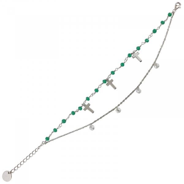 Bratara Argint 925% cu jadeit si cruciulite [0]
