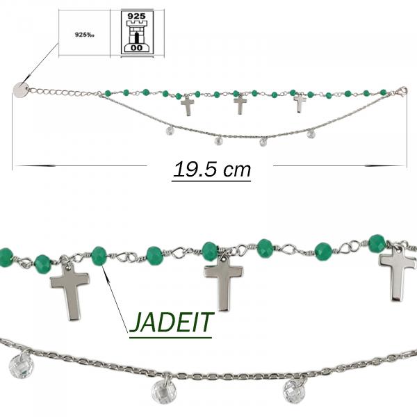 Bratara Argint 925% cu jadeit si cruciulite [1]