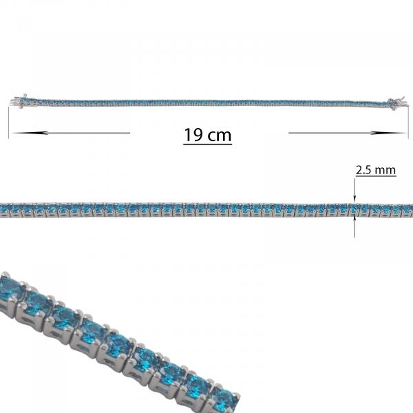 Bratara Argint 925% cu zirconii Aqua [1]