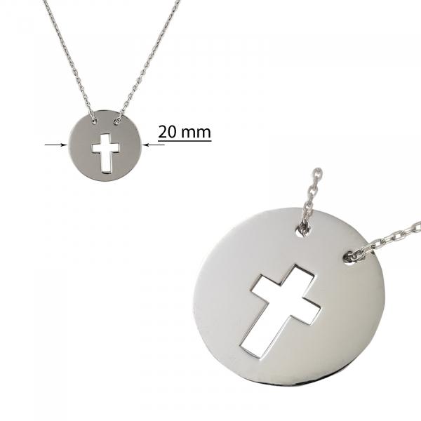 Colier Argint 925% Circle Cross [2]
