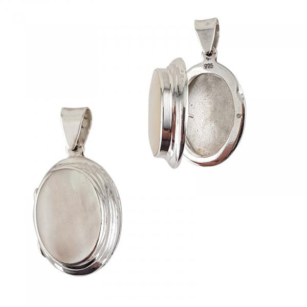 Medalion Argint 925% de forma ovala care se deschide [0]