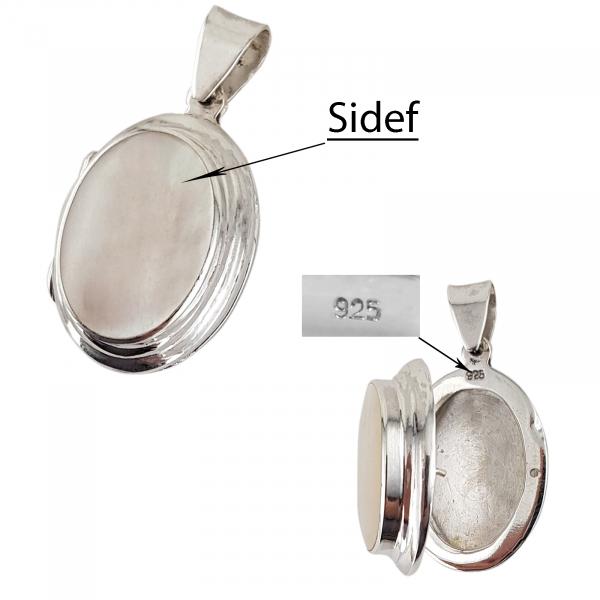 Medalion Argint 925% de forma ovala care se deschide [4]