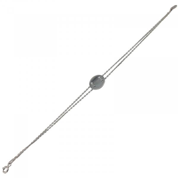Bratara Argint 925% cu banut de 20mm [0]