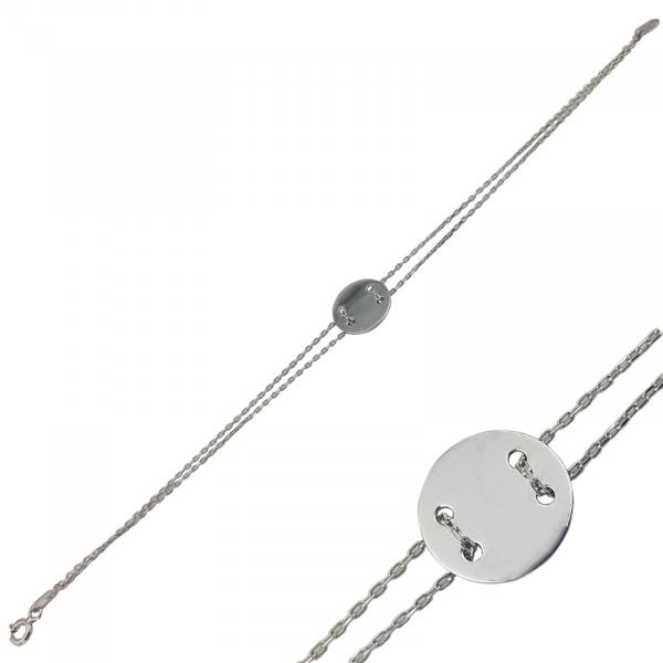 Bratara Argint 925% cu banut de 20mm [1]