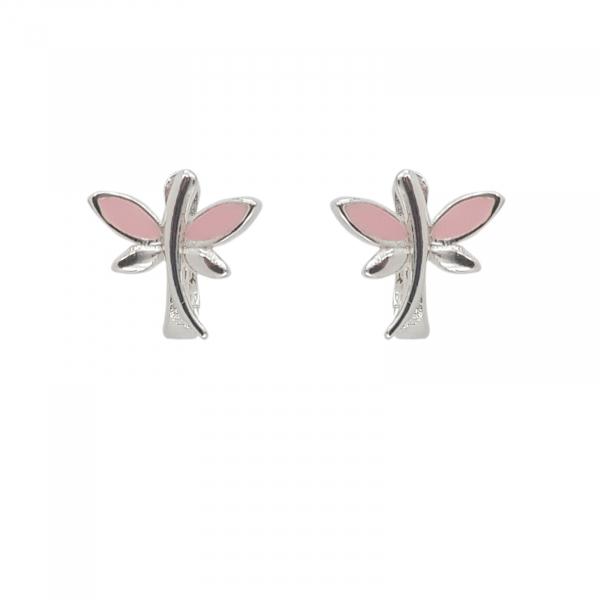 Cercei Argint 925% Pink DragonFly [0]
