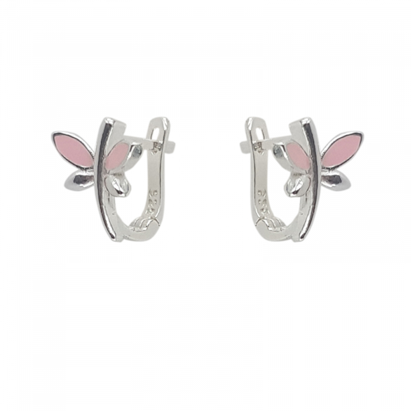 Cercei Argint 925% Pink DragonFly [1]