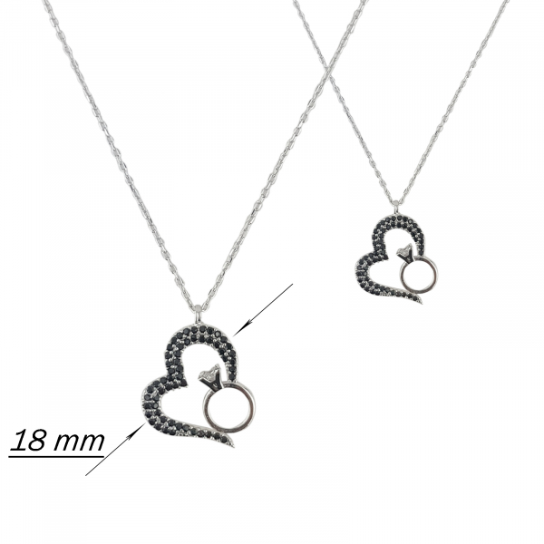 Colier Argint 925% Heart and Ring [1]