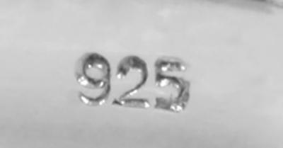 Inel Argint 925%  patinat cu piatra verde-2157 [3]
