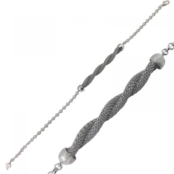 Bratara Argint  impletit rodiat , cod 2370D [0]