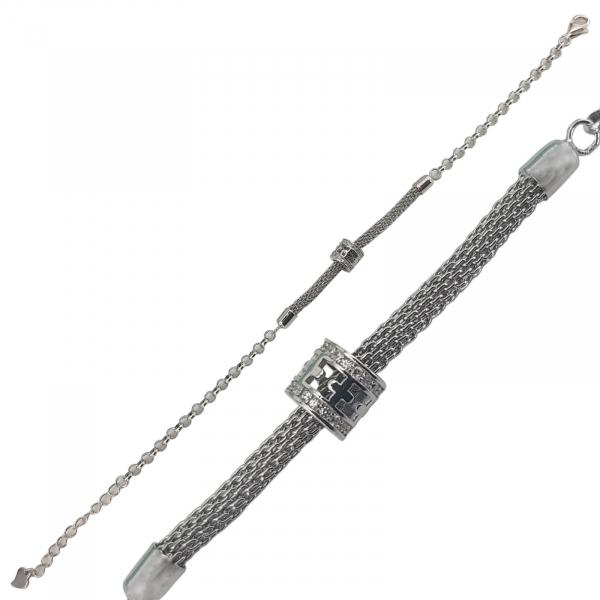 Bratara Argint  rodiat cu un element mobil , cod 2370B [0]