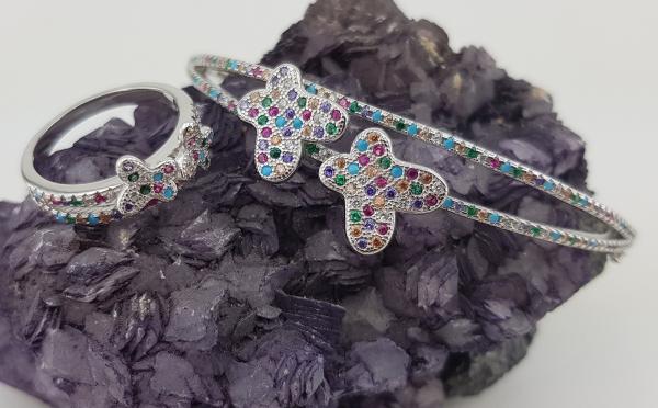 Bratara Argint fixa cu zirconia multicolore 2208 [3]