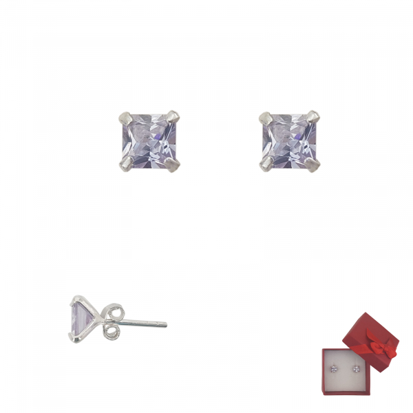 Cercei Argint cu piatra mov-ametist,cod 2246A [0]