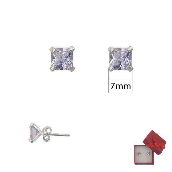 Cercei Argint cu piatra mov-ametist,cod 2246A [1]