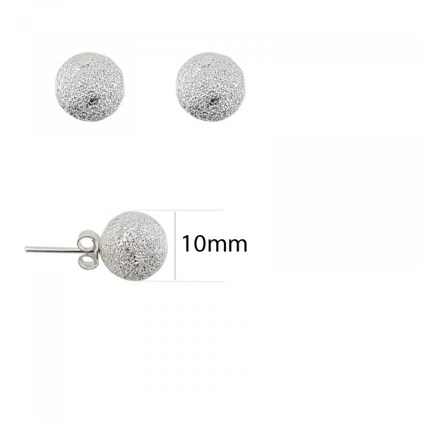 Cercei Argint ,model sfera de 10mm, cod 2216 [1]