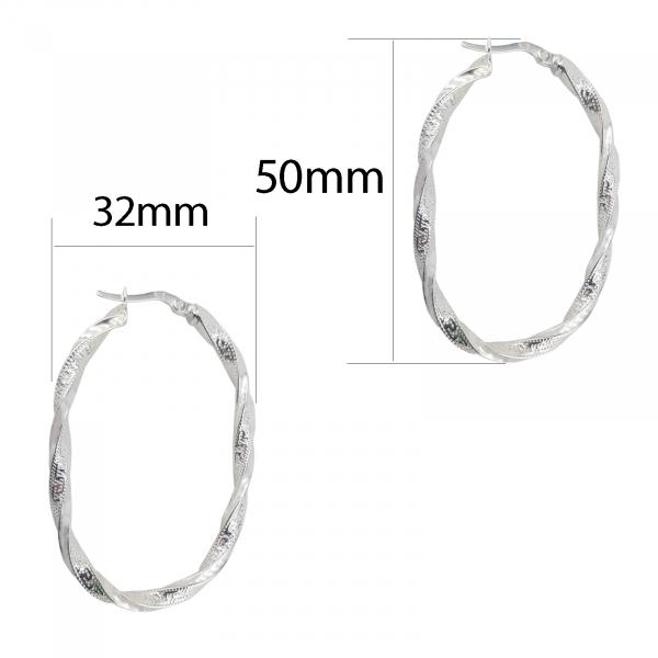 Cercei Argint 925%,creole rasucite cu model grecesc 2201 [3]