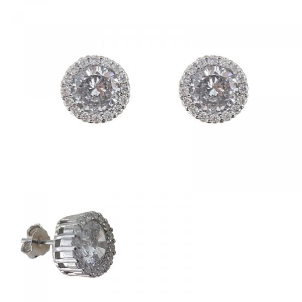 Cercei Argint cu zirconia albe 2238 [0]
