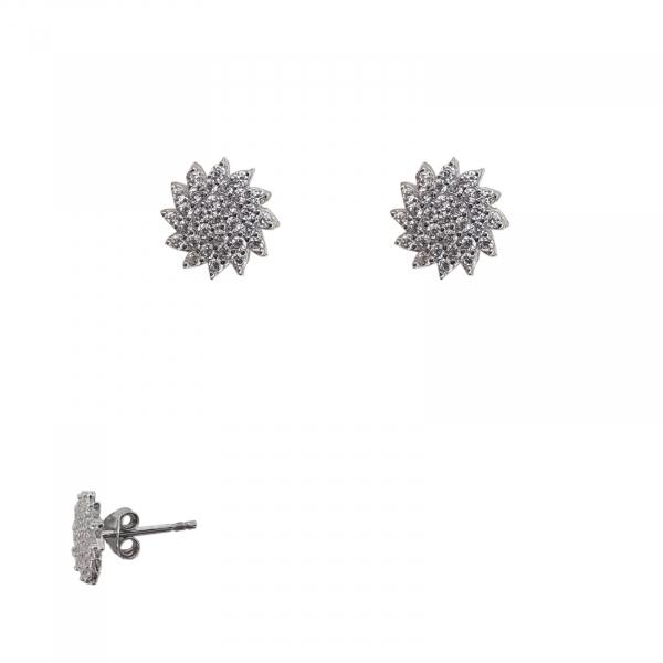 Cercei Vane din argint si cubic zirconia albe,cod 2380 [0]