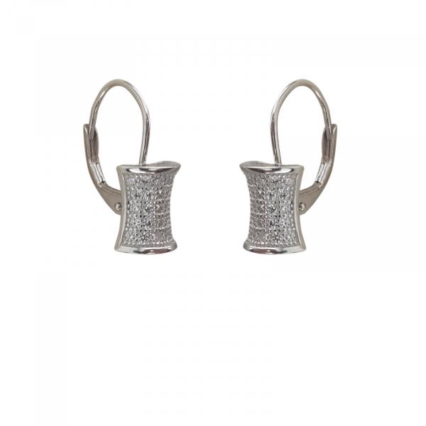 Cercei Sin din Argint cu multiple zirconii,cod 2396 [0]
