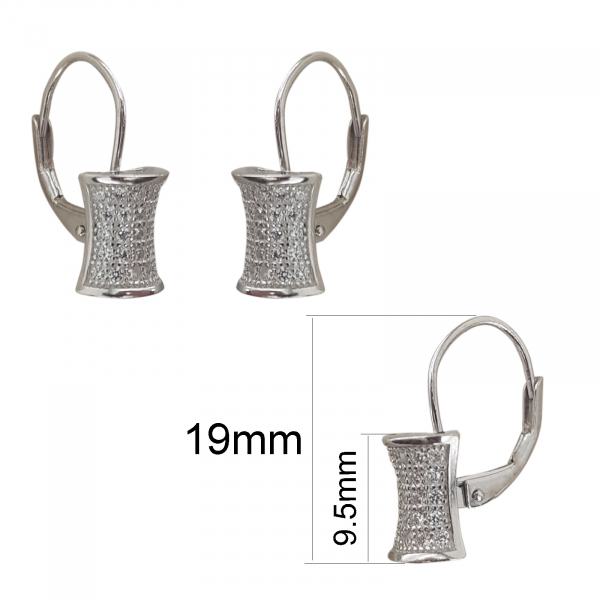 Cercei Sin din Argint cu multiple zirconii,cod 2396 [2]
