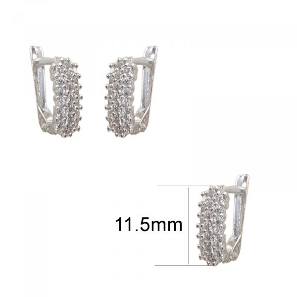 Cercei Argint cu zirconii albe, cod 2411 [1]