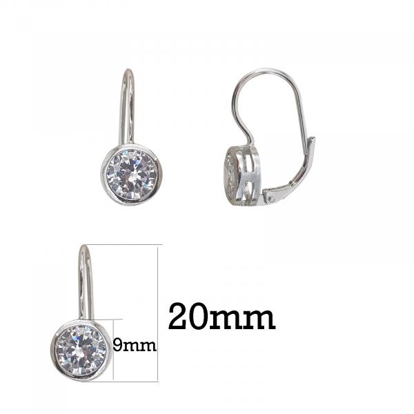 Cercei Argint cu zirconia alb,cod 2466 [1]