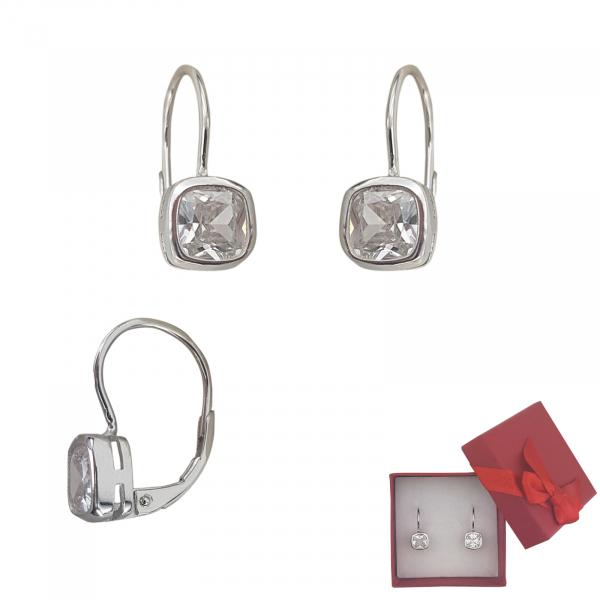 Cercei  Shiny din argint si inchidere clasica,cod 2468 [0]