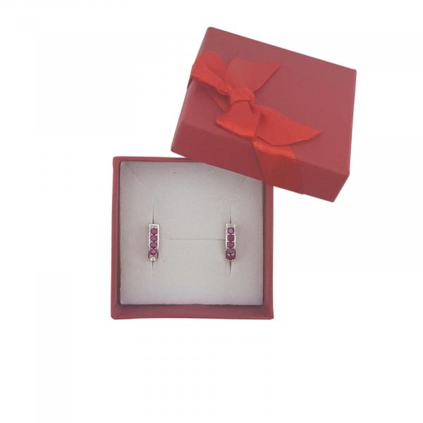 Cercei Argint cu cristale rubinii ,cod 2342 [1]