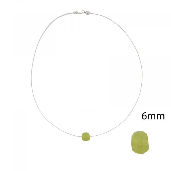 Colier Argint cu Olivin pe silicon transparent 2327E [1]