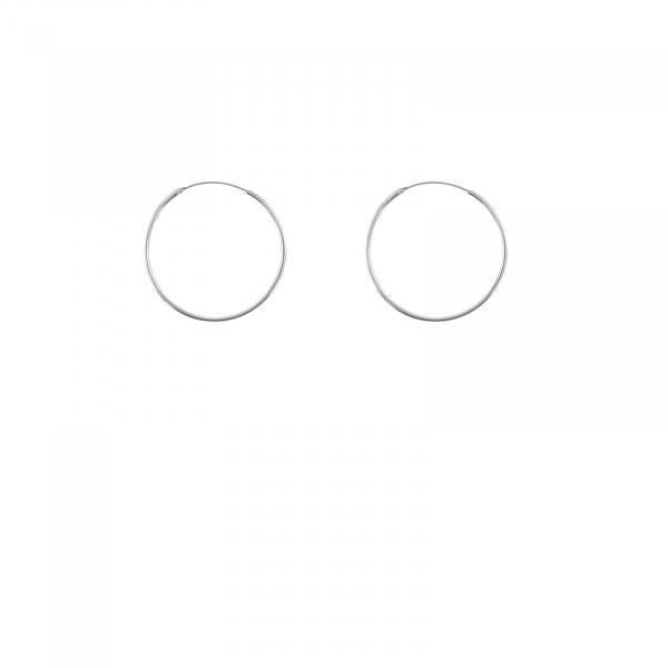 Cercuri clasice Argint 18mm, cod 2281 [0]