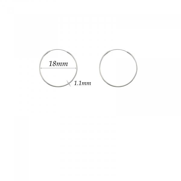 Cercuri clasice Argint 18mm, cod 2281 [2]