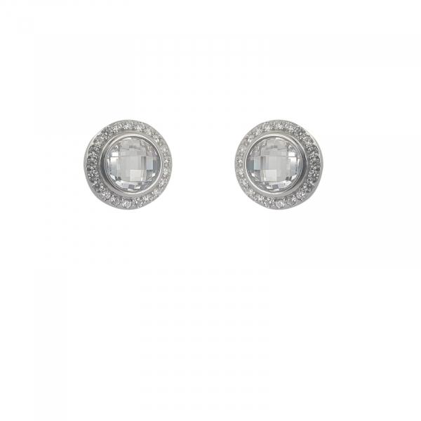 Cercei Argint 925% ornati cu zirconia albe [0]