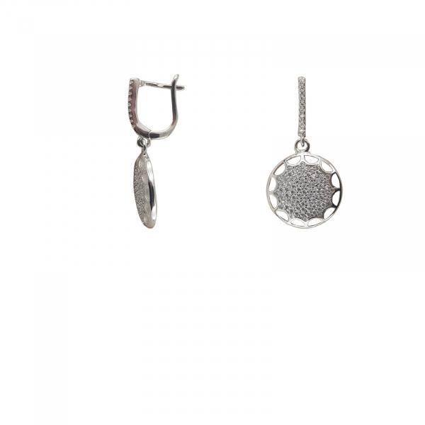 Cercei clasici din Argint 925% si cubic zirconia [1]