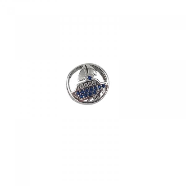Talisman Argint 925% Blue Boat [1]