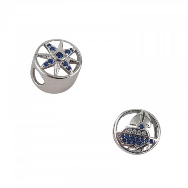 Talisman Argint 925% Blue Boat [0]
