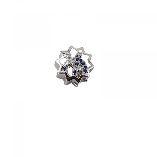 Talisman Argint 925% cu zirconia albastre [0]