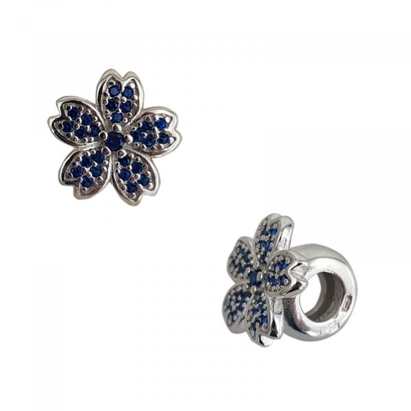 Talisman Argint 925% Blue Flower [1]