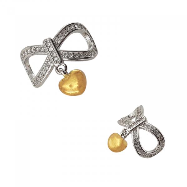 Talisman Argint Golden Heart [1]