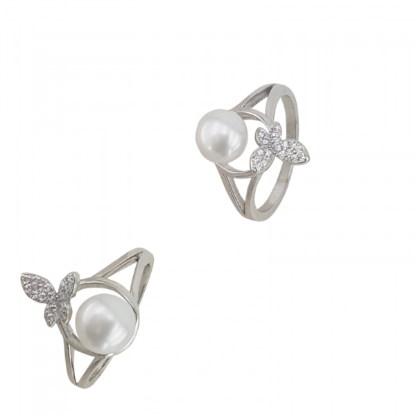 Inel Argint cu perla cultura si zirconia, cod 2384 [0]
