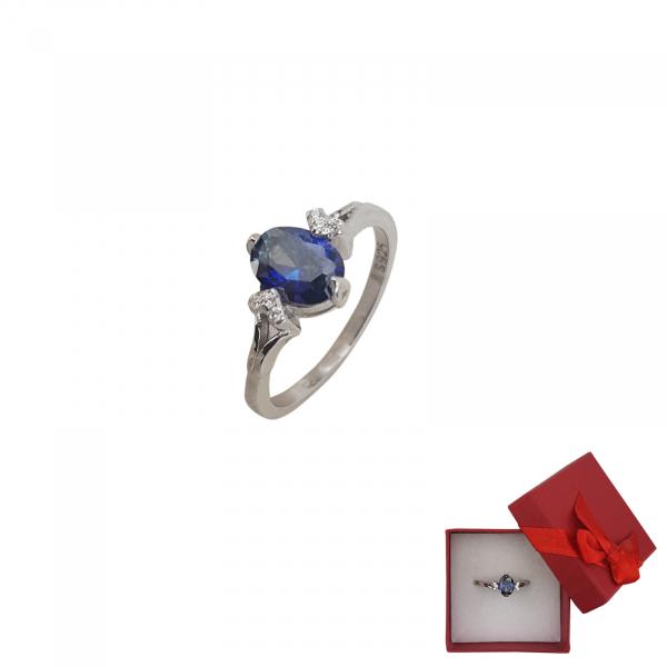 Inel Argint cu tanzanit, cod 2443 [0]