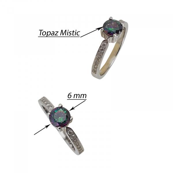 Inel Argint 925% si Topaz Mistic [2]