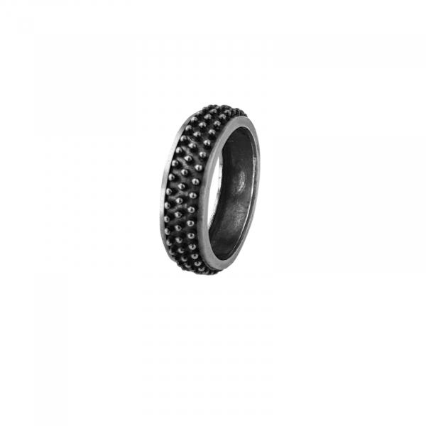 Inel Argint 925% Black Spiky [1]