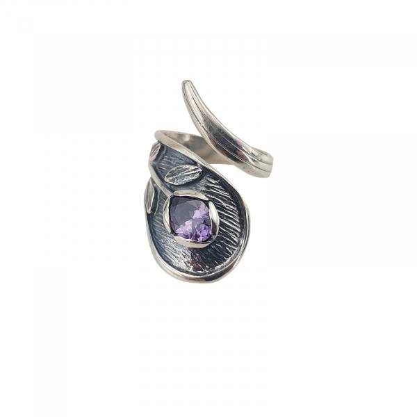 Inel Argint 925% antichizat cu zirconiu mov-2160 [0]