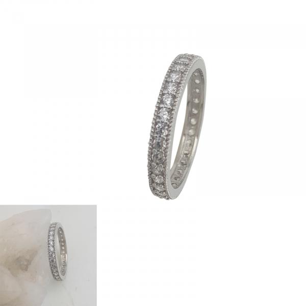 Inel Argint 925% cu multiple zirconia albe, cod 1935 [0]