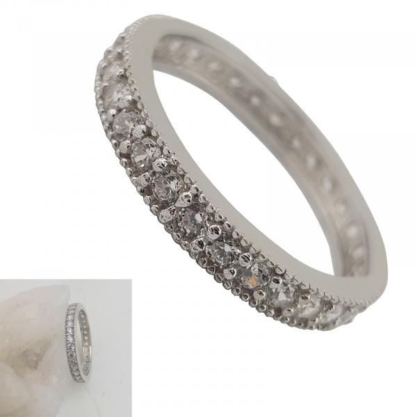 Inel Argint 925% cu multiple zirconia albe, cod 1935 [1]