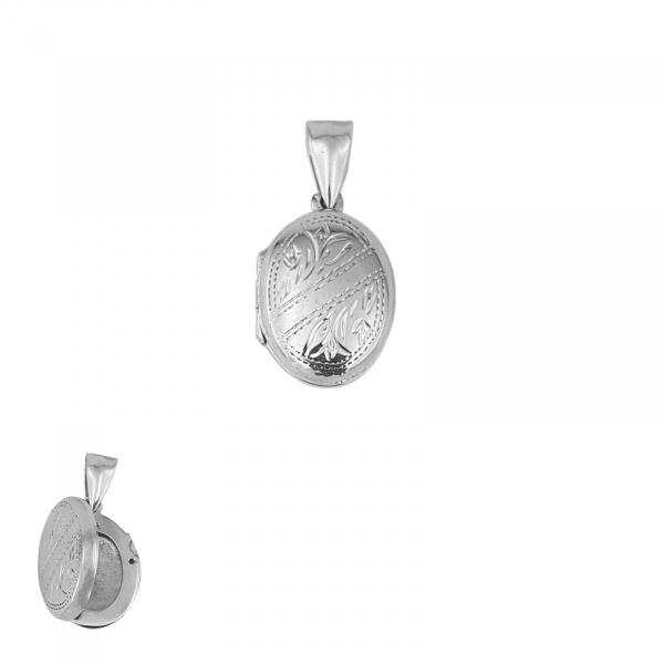 Medalion Argint 925% care se deschide, de forma ovala [0]