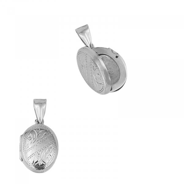 Medalion Argint 925% care se deschide, de forma ovala [1]
