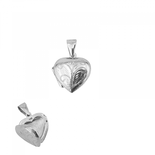 Medalion Argint 925% in forma de inima care se deschide [0]