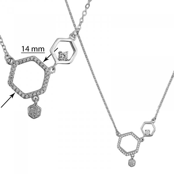 Colier Argint 925% cu zirconia alb [1]